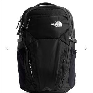 North Face Black Router Transit Backpack